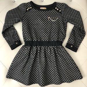 NEW Girl's Sierra Julian Gray Long Sleeve Dress 8
